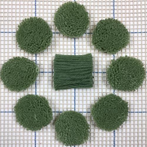 Forest Green Pre-cut Latch Hook Yarn
