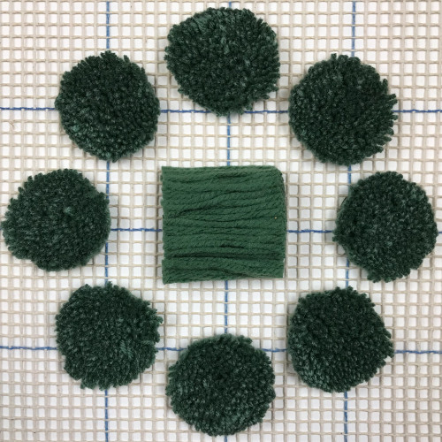 True Green Pre-cut Latch Hook Yarn