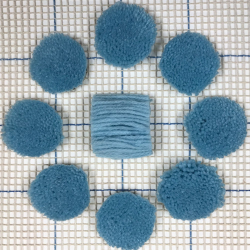 Very Light Blue Pre-cut Latch Hook Yarn