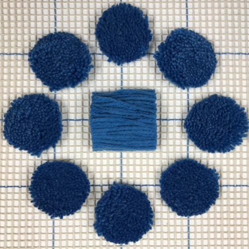 Blue Pre-cut Latch Hook Yarn