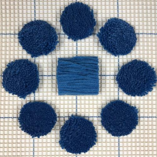Blue Pre-cut Latch Hook Yarn