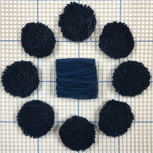 Navy Pre-cut Latch Hook Yarn