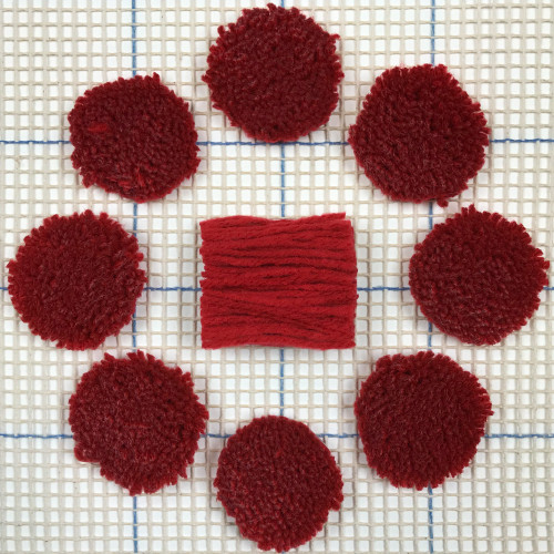Ruby Pre-cut Latch Hook Yarn