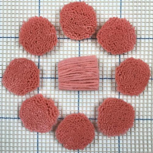 Shy Coral Pre-cut Latch Hook Yarn