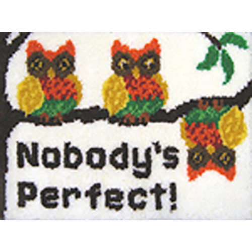 Nobody's Perfect Latch Hook Rug