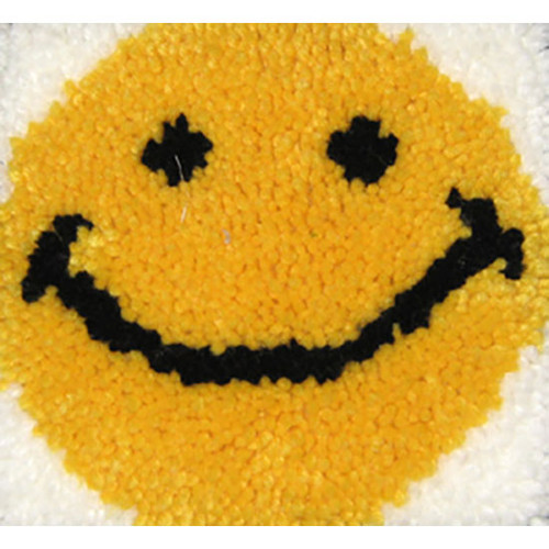 Smiley Face Latch Hook Rug
