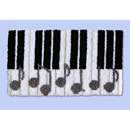 Piano Keys Latch Hook Rug