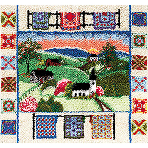 Country Sampler Latch Hook Rug Kit
