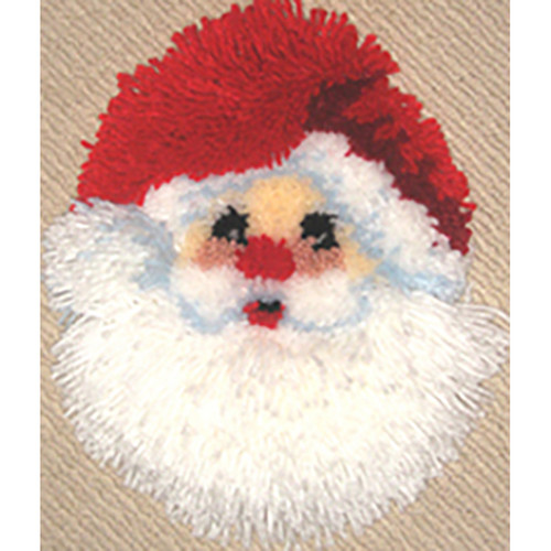 Santa Face Latch Hook Wall Hanging
