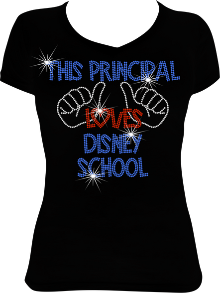 42aecc9c This Principal (Thumbs) Loves Disney School Rhinestone T-Shirt Design -  Zor's Blingz & More