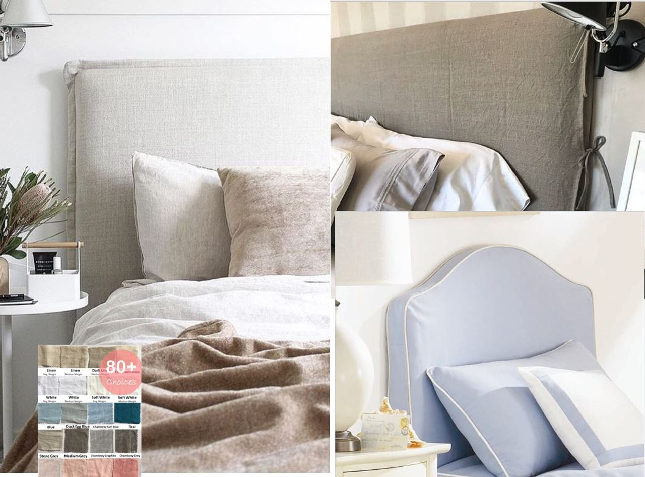 Picture of: Natural Linen Headboard Slipcover Upholstery
