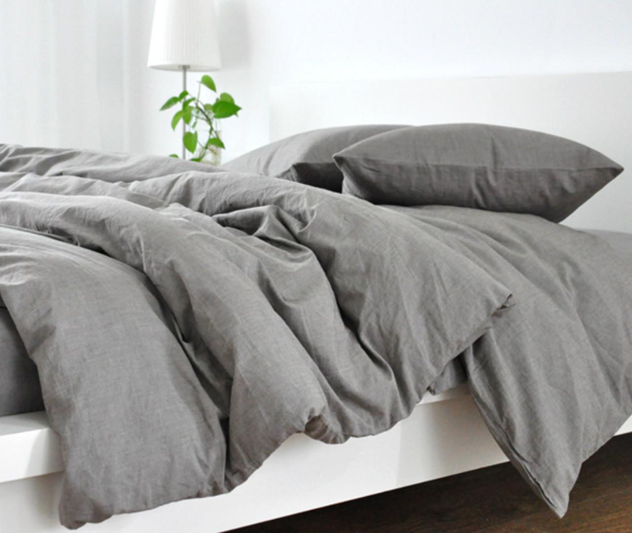linen duvet cover king Grey Duvet Cover, Natural Linen, Custom Size, Queen/King/Calif  linen duvet cover king