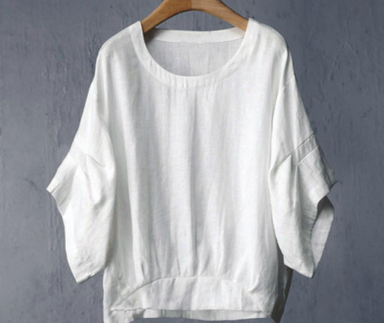 dd9da9fd631ac Oversized Linen Shirt