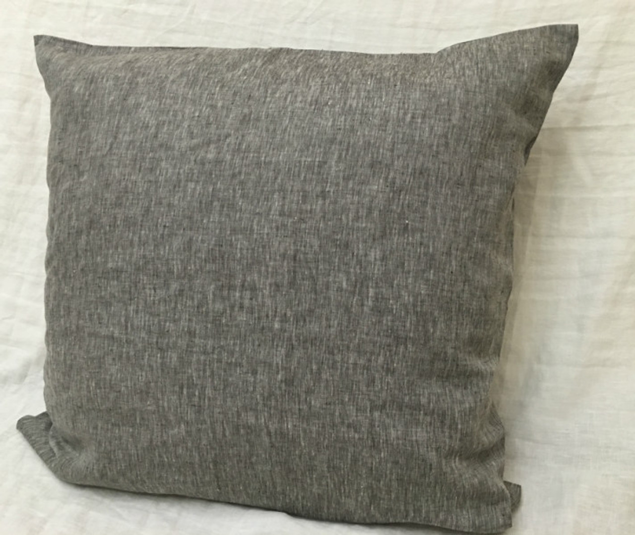 Chambray Grey Euro Sham Covers 16x16 To 28x28 All Sizes