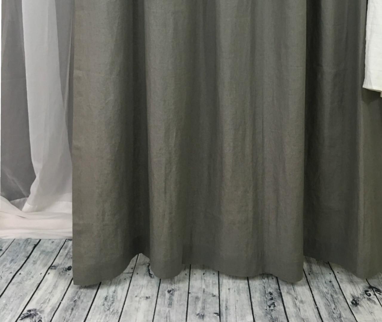 Gray Linen Curtain Custom Curtains Custom Made Grey Curtains