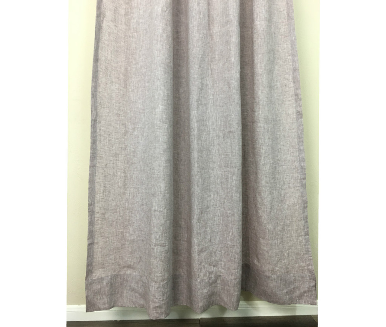 Chambray Rustic Raspberry Shower Curtains Natural Linen