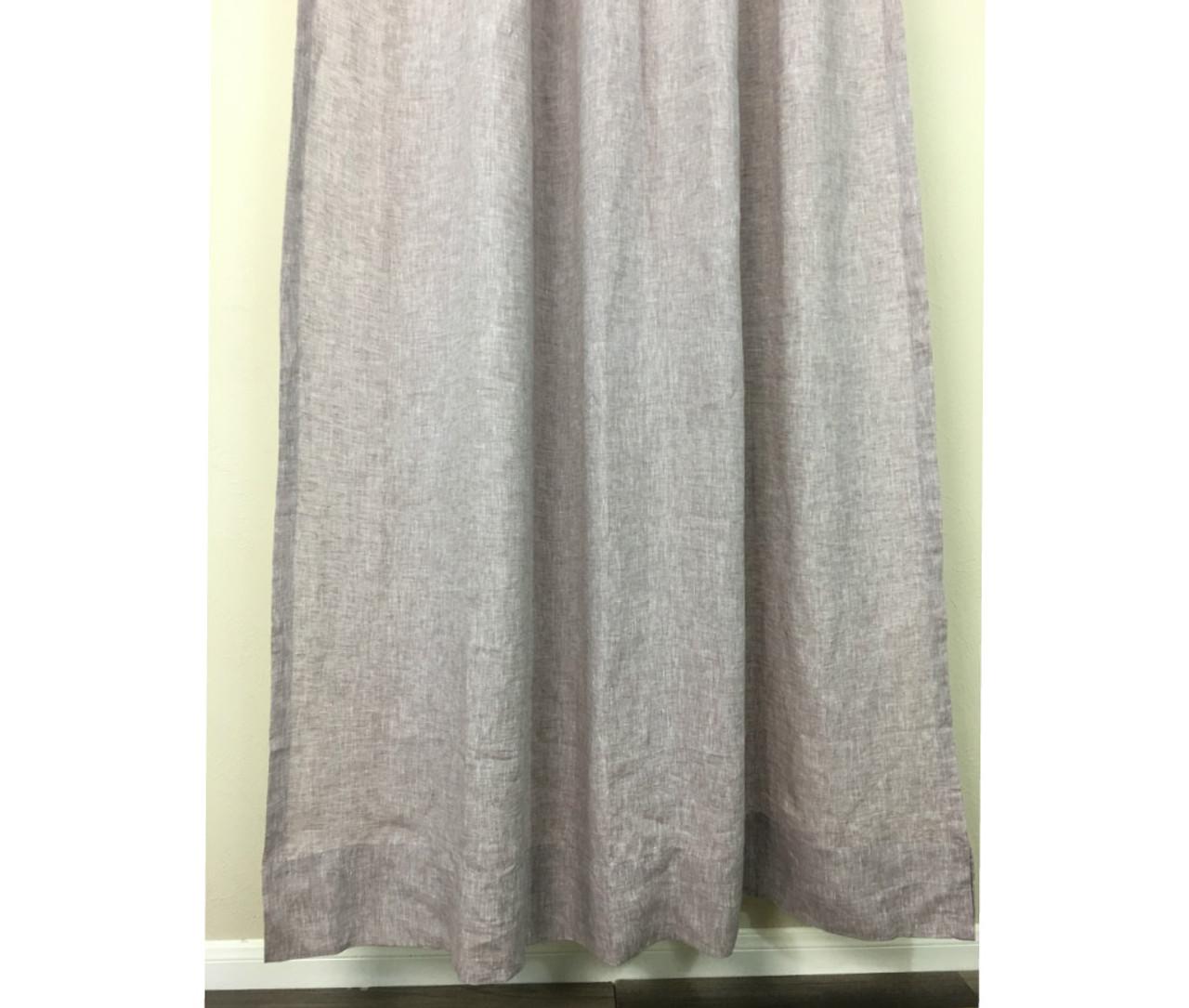 Chambray Raspberry Linen Shower Curtain
