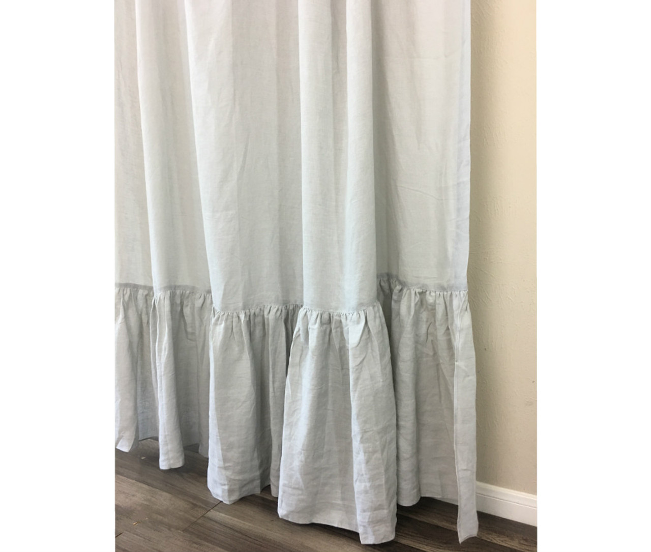 grey linen curtains slate stone grey linen curtains with mermaid long ruffles