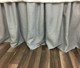 Linen Bed Skirt With Gathered Ruffle Or Tailored Pleats