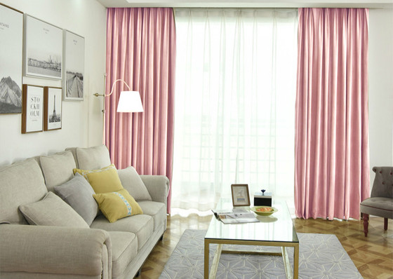 Pair Of Velvet Curtains In Pink Custom Curtains