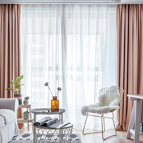 Pair Of Velvet Curtains In Simon Pink Custom Curtains