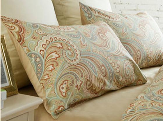 ... Brown Paisley Motif Pillow Sham | Handmade By Superior Custom Linens ...