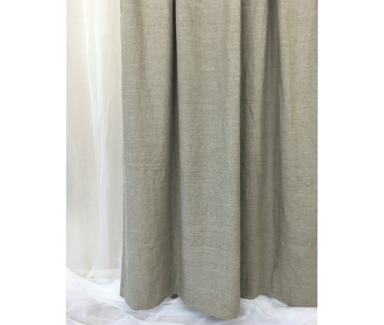 Natural Linen Shower Curtain