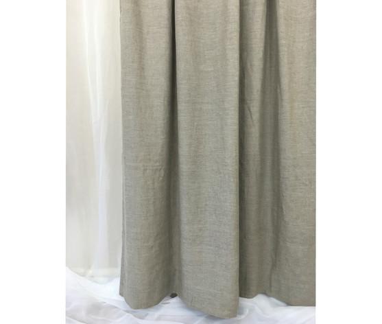 ... Natural Linen Shower Curtain   Light Grey ...