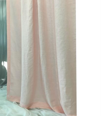 Pink Linen Shower Curtain