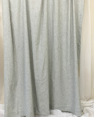 Vertical Striped Shower Curtains In Black And White Linen
