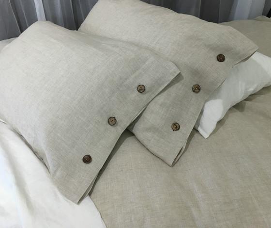 3d27cc5325e Natural Linen Duvet Cover with Wooden Buttons · Linen duvet cover with wooden  buttons ...