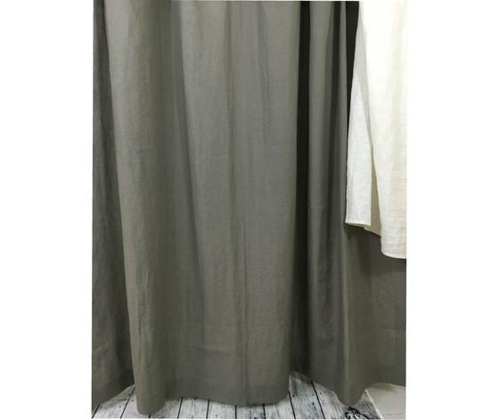 Gray Linen Shower Curtains Curtain Grey