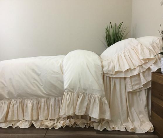 Sundress Duvet Cover With Mermaid Long Ruffles Dreamy