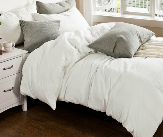 White Linen Duvet Cover Set Handcrafted By Superior