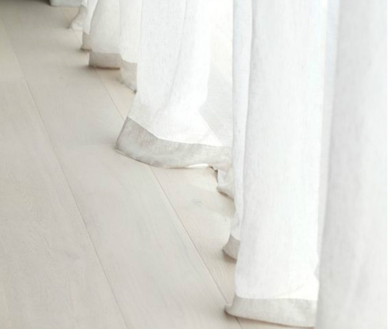 Natural Linen Sheer Curtains in White, White Sheer Curtains