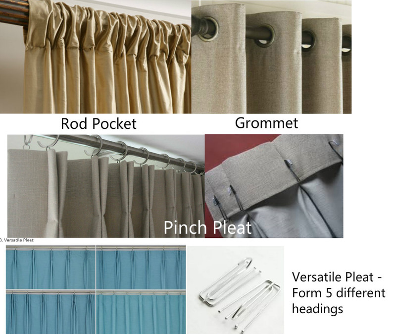 Natural Linen Curtains With Leading Edge Ruffles