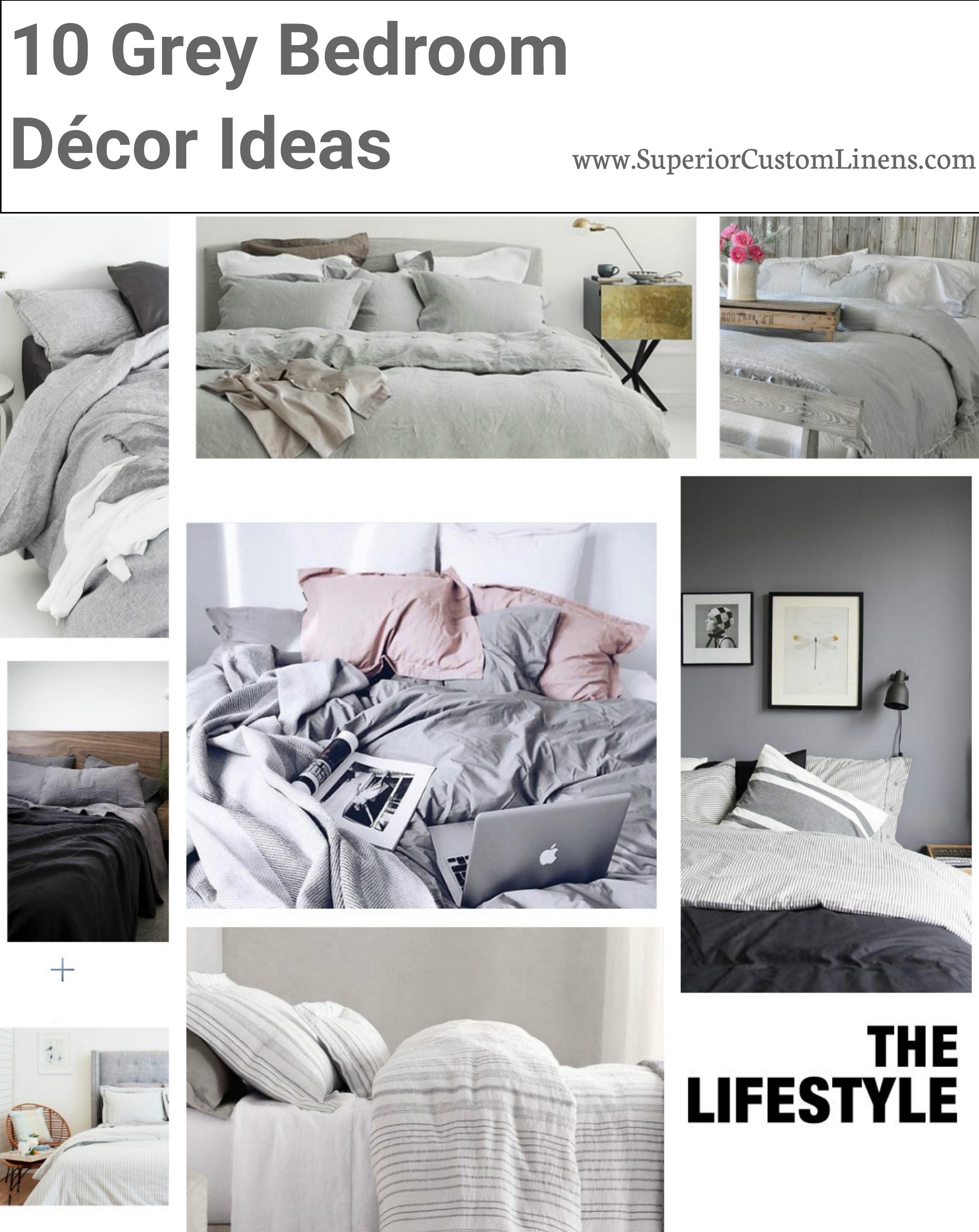 10 Grey Bedroom Decor Ideas Superior Custom Linens
