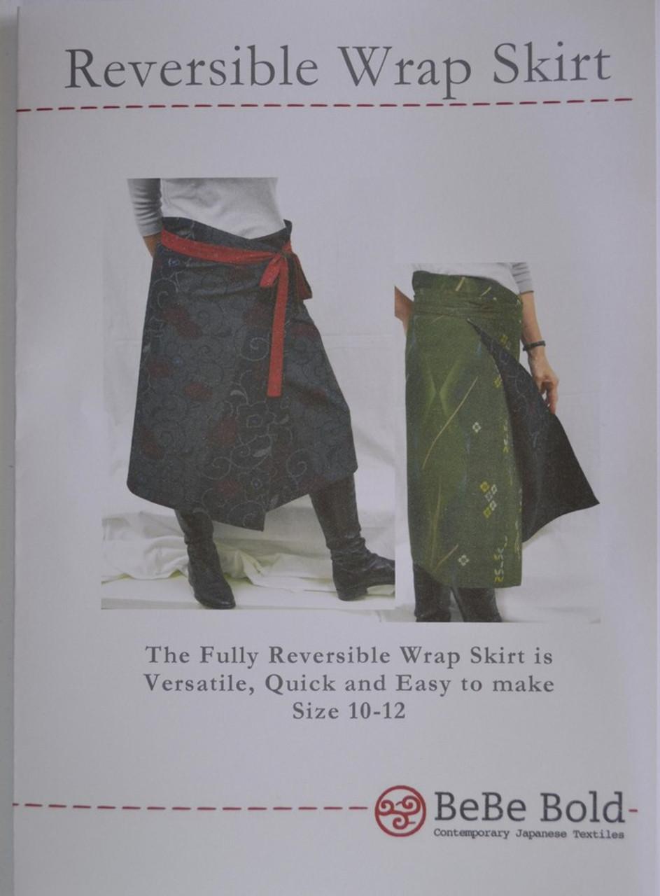 Reversible Wrap Skirt Pattern Pgws-0140 - Bebe Bold Japanese Textiles  Craft-3403