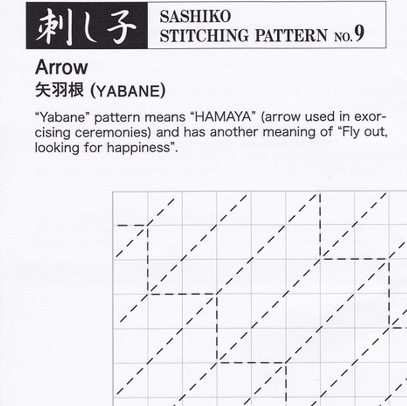 Sashiko Stitching Pattern Arrow (Yabane) PSS-9