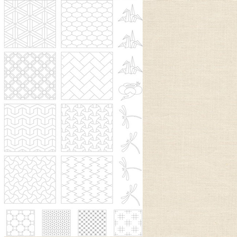 Sashiko Panel from BeBe Bold  2 Off-White BBSP2-0001