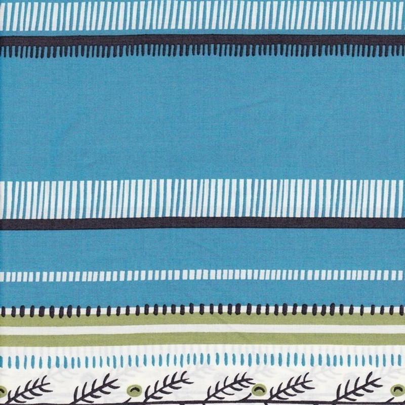 Printed Cotton Fabric Blue Cotton Print FCB-0381