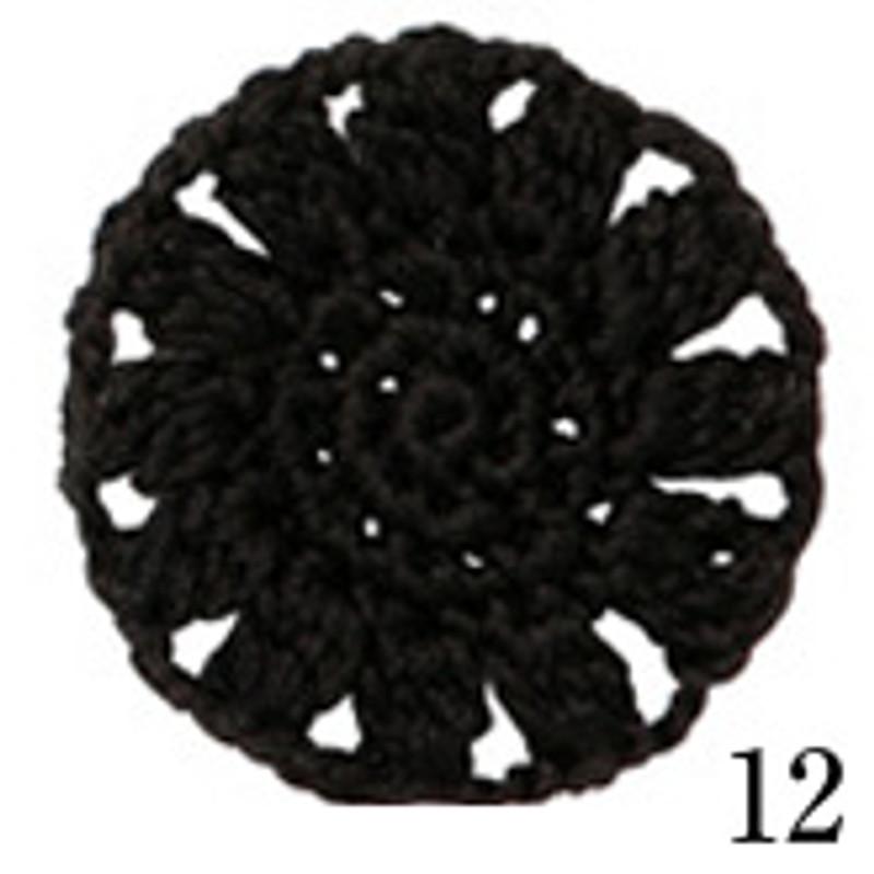 Crochet Thread Cotton Cuore Black CC-12
