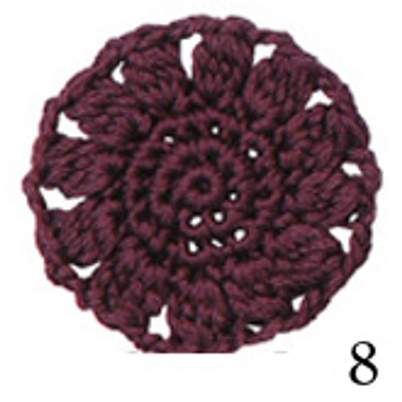Crochet Thread Cotton Cuore Plum CC-8