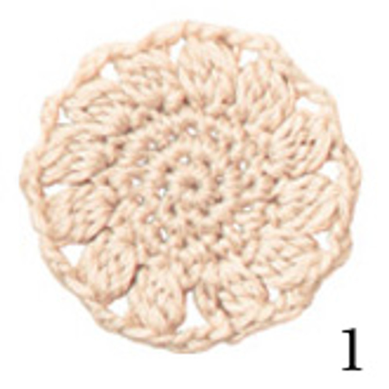 Crochet Thread Cotton Cuore White CC-1