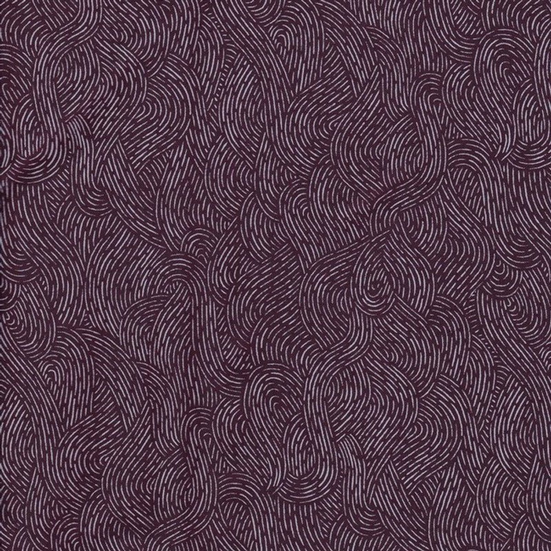 Printed Cotton Fabric Deep Purple Waves FCP-0292