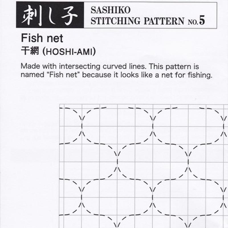 Sashiko Stitching Pattern Fish Net (Hoshi-Ami) PSS-5