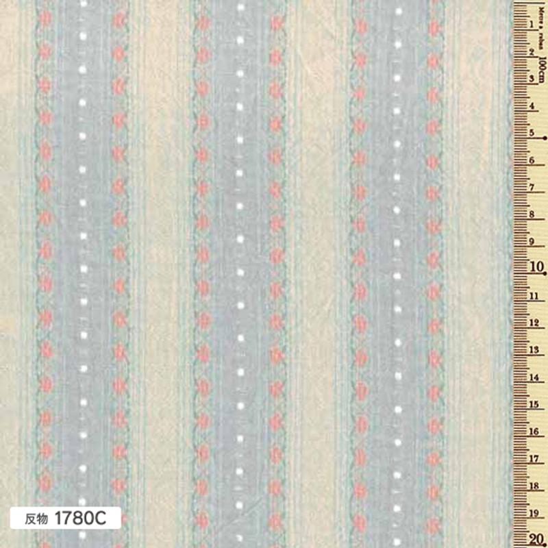 Sakizome Momen Yarn Dyed Fabric Floral Leaf C 1780C