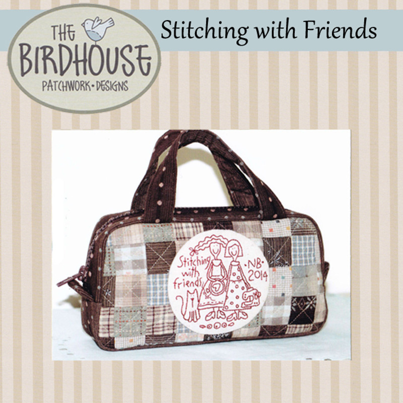 Stitching with Friends Zip Case BPD-D299