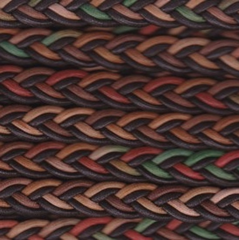 Multi Coloured Plaited Cording BT-1552-25-205