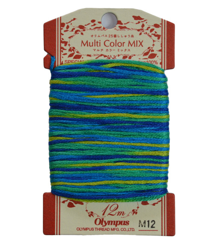 Embroidery Thread Multi-Coloured  12mt ET-M12